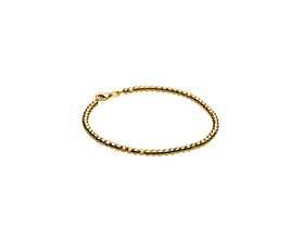 18ct Yellow Gold Plated 925 Sterling Silver Ladies Faceted 3mm Bead Bracelet
