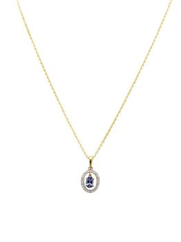 9ct Yellow Gold Pendant With A Natrual Oval Shape Tanzanite