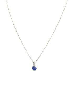 9ct White Gold Solitaire Pendant With A Natrual Round Shape Tanzanite