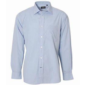 Swagg Mens Chambray Long Sleeve Shirt - Blue (Size: Small)
