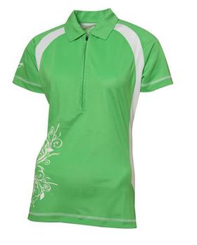 Swagg Ladies Detailed Technical Golfer - Green (Size: Large)