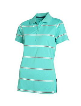 Swagg Ladies Stripe Technical Golfer - Mint