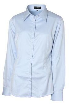 Swagg Ladies Long Sleeve Blouse - Sky Blue