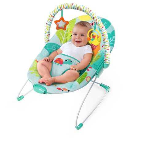 1d03ed07bfb Bright Starts - Vibrating Bouncer - Raindrop Rainforest
