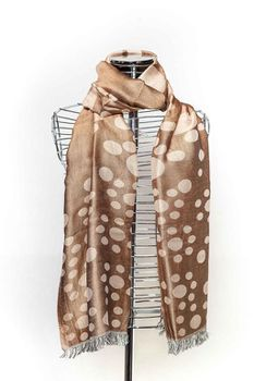 Latiant Beige & Bronze Spotted Scarf