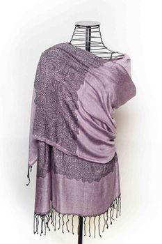 Latiant Purple & Black Print Scarf