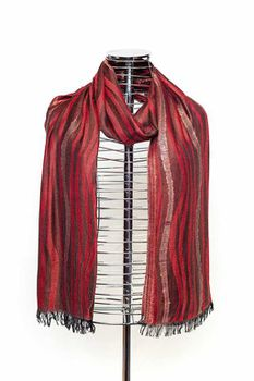 Latiant Red Striped Scarf