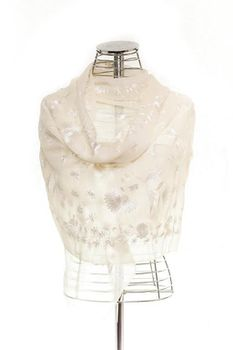 Latiant Beige Embroided Scarf