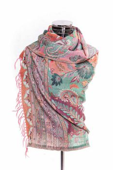 Latiant Pink Floral Scarf