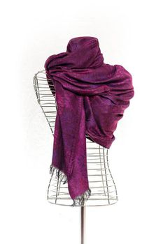 Latiant Metallic Purple Scarf