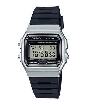 Casio Men's F-91WM-7ADF Digital Watch - Black and Silver