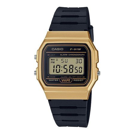 c1bb3b856 Casio Men's F-91WM-9ADF Digital Watch - Black and Gold | Buy Online ...