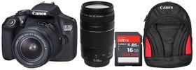 Canon 1300D 18MP DSLR Twin Lens Value Bundle