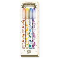 Djeco Stationery 4 Tinou Glitter Markers