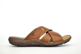 Green Cross Strap Sandal 71553 - Brown
