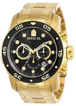 Invicta Men's 0072 Pro Diver Collection Chronograph 18k Gold-Plated Watch (Parallel Import)