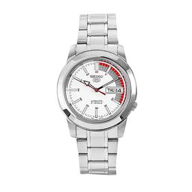 Seiko Men's SNKK25 5 Stainless Steel White Dial Watch (Parallel Import)