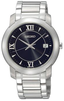 Seiko Men's SGEE95 Dress Black Dial Watch (Parallel Import)