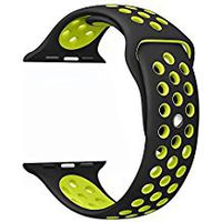 Sport Strap For Apple Watch - Black & Yellow (42mm)