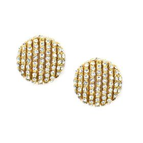 Bella Bella Gold Plated Crystal Encrusted Stud (TBE147)