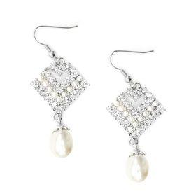 Bella Bella Pearl Crystal Earring (TBE148)