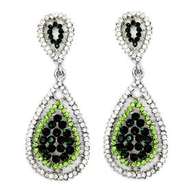 Bella Bella Ombre Green Glass Earring (TBE163)