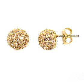 Bella Bella Gold Glitter Ball Stud (TBE180 (TBE180)