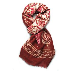 Lily & Rose Red Based Scarf