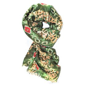 Lily & Rose Green Based Fashion Scarf