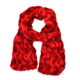 Lily & Rose Red Sheer Faux Scarf