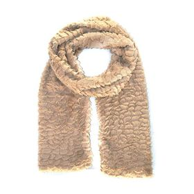 Lily & Rose Beige Furry Fashion Scarf