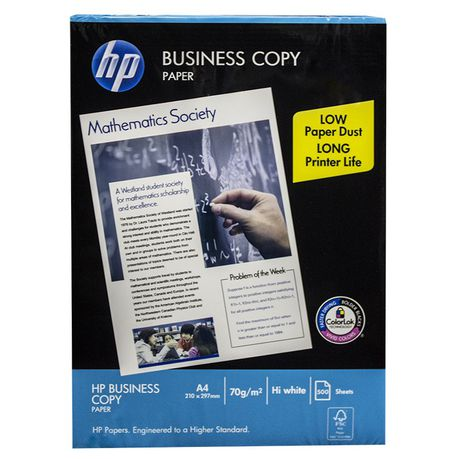 Hp Business White A4 Copy Paper Ream 500 Sheets Buy Online In