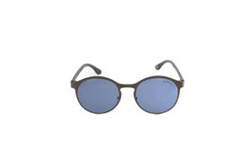 "Lentes & Marcos ""Delicias"" UV400 Silver Round Sunglasses"