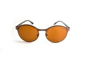 "Lentes & Marcos ""Delicias"" UV400 Amber & Black Round Sunglasses"