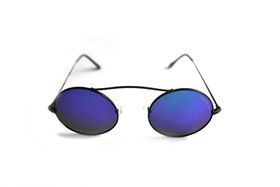"Lentes & Marcos ""San Fermin"" Polarised Mirrored Round Sunglasses"