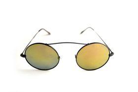"Lentes & Marcos ""San Fermin"" Polarised Amber Round Sunglasses"
