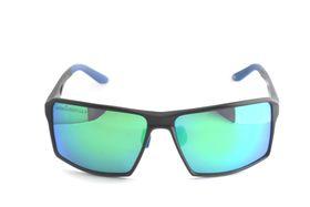 "Lentes & Marcos ""Gran Via"" Polarised Black Flat-Top Mirrored Sunglasses"