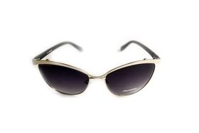 "Lentes & Marcos ""Avenida De La Paz"" Polarised Black & Silver Cat-Eye Sunglasses"