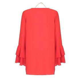 Closet London - Orange Frill Sleeve Top