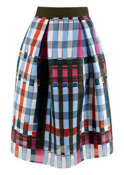 Closet London - Multi Geometric Pleated Full Skirt