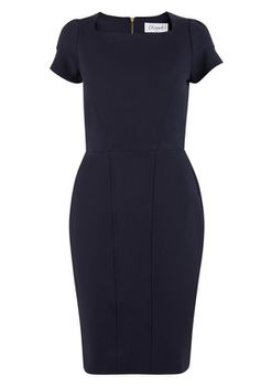 Closet London - Navy Bodycon Panel Pencil Dress