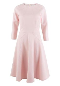 Closet London - Pale Pink Aline skirt with Panels Dress