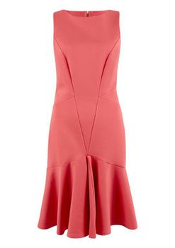 Closet London - Pink Panelled Sleeveless Dress with Pep Hem