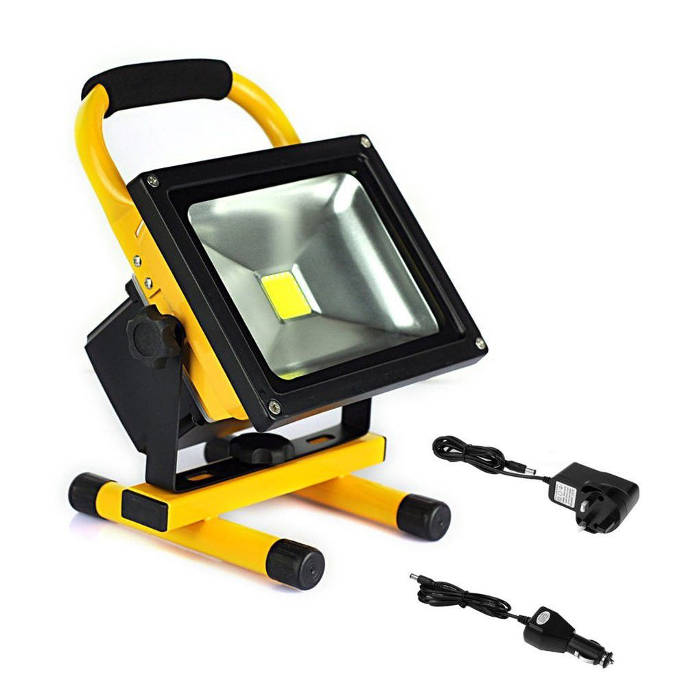 Led Flood Light Rechargeable 20w: 20w Rechargeable Led Flood Light With Wall And Car