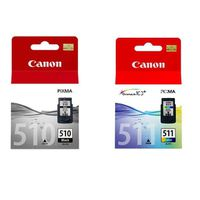 Canon Ink 510 Black & Tri-Colour 511 Combo Pack Cartridge (OEM)