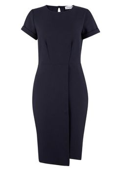 Closet London - Black Aysemmetric Wrap Skirt Dress