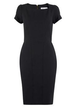 Closet London - Black Bodycon Panel Pencil Dress