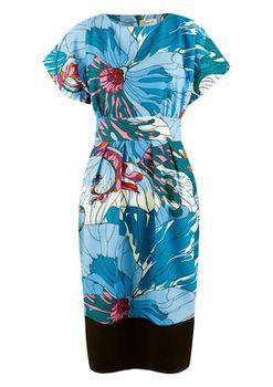 Closet London - Multi Flare Sleeve Contrast Hem Dress