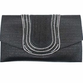 Blackcherry Clutch Black Bag - Large