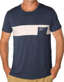 Apres Velo Spliced Pocket Tee in  indigo Marle